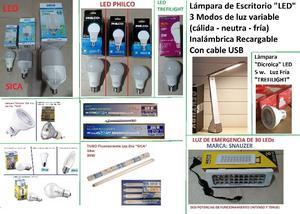 LAMPARA LED DE ESCRITORIO LUZ DE EMERGENCIA BAJO CONSUMO