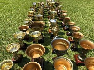 Lote de 58 Trofeos Copas y Copones de Metal Excelente