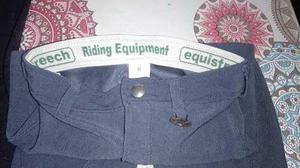 Pantalon De Montar Equistreech Talle 8 Y 12 Gris Y Negro