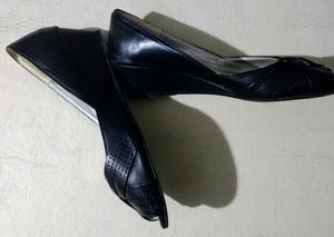 Zapatos negro taco chino