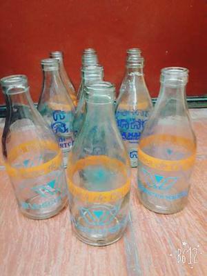 Botella De Leche Antigua 1 Litro
