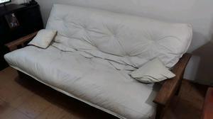 Futon con colchón de resortes