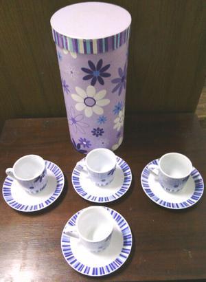 Juego de Taza de Café x 4. NUEVO.