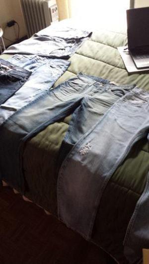 Lote Jeans Hombre Ona Old Bridge Wrangler Zara, T. 28/30