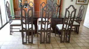 Mesa De Vidrio Comedor U Oficina con 8 sillas