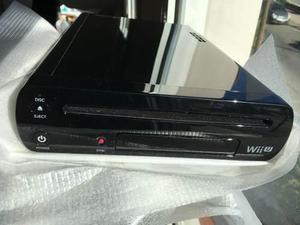 Nintendo Wii U Negra Como Nueva Sin Rayas Dos Juegos Lapiz