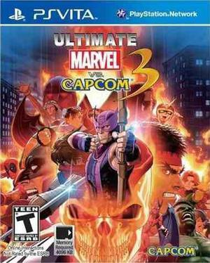 Psvita Ultimate Marvel Vs Capcom 3 Original Ps Vita