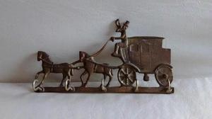 llavero, porta llaves antiguo de bronce macizo