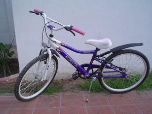 Bicicleta Musetta Modelo Fantasy Violeta Niña Rodado 24