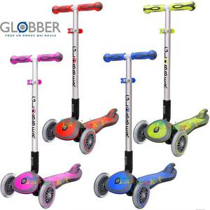 Globber Elite Con 4 Alturas Plegable Monopatin De 3 Ruedas