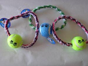 Juguete Para Perros: Soga Con Pelota