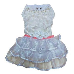 Vestido De Novia Mas Tocado De Fiesta Para Perros Gatos