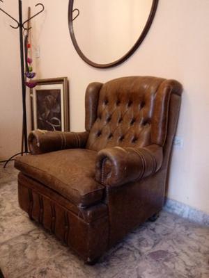 vendo sillones antiguos de cuero
