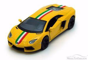 Auto Lamborghini Aventador Lp 12cm Esc 1/36 A Friccion Once