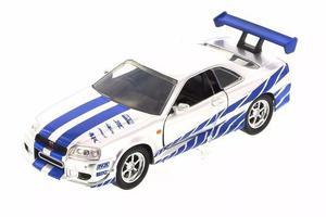 Brians Nissan Skyline Gt-r R34 Rapido Y Furioso 1/32 Jada