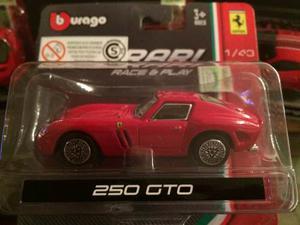 Coleccion De 4 Autitos Ferrari Esc: 1:43 Burago Originales