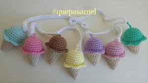 Guirnalda Helados Crochet