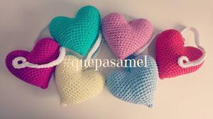Guirnalda de Corazones Crochet