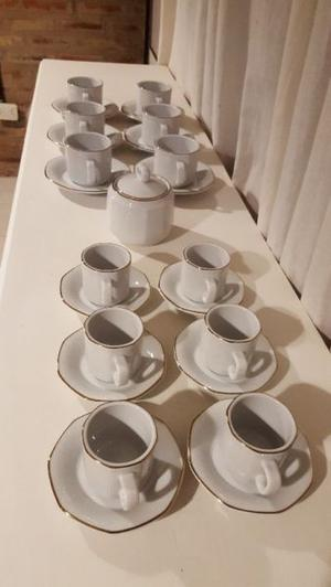 Juego de te y de cafe porcelana