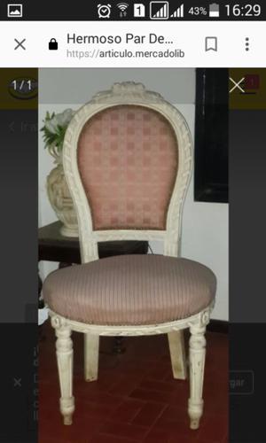 Par de sillas Luis XVI a restaurar