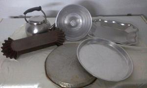 Set de cocina. Aluminio y acero inoxidable.
