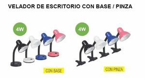 VELADORES PINZA Y BASE 4W LED