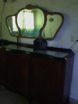 aparador espejo y Mesa Madera estilo Francés Extensible