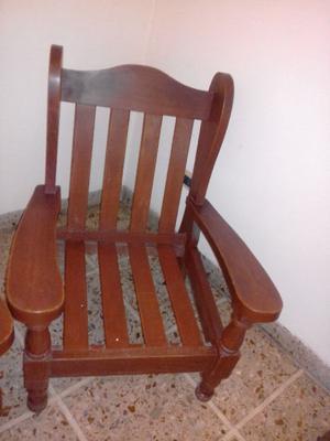 Juego de sillones de algarrobo