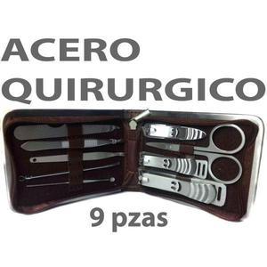 SET DE MANICURA 9 PIEZAS ACERO QUIRÚRGICO
