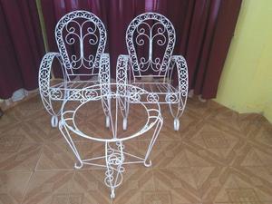 Juego De Jardín de Hierro Nuevo Set 3 Piezas 2 sillones 1