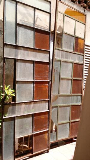 Mamparas de hierro vidrio repartido