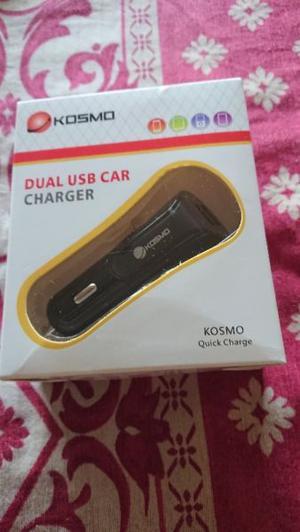 Cargador para auto de dos USB Carga rapido 2.1