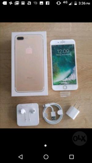 Iphone 7 plus 32 gb libre nuevo garantia color rosa $