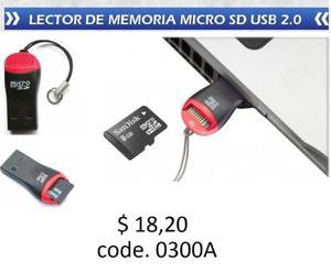 LECTOR TARJETA MICRO SD A USB
