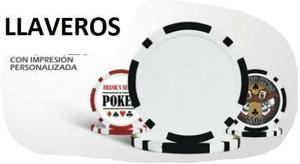 Llaveros Fichas Poker Casino Plasticas Personalizadas 20%...