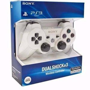 Joystick Ps3 Sony Blanco Dualshock Ps3 Original Caja Sellad