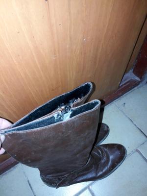 Vendo botas chocolte
