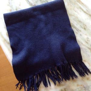 Bufanda color azul
