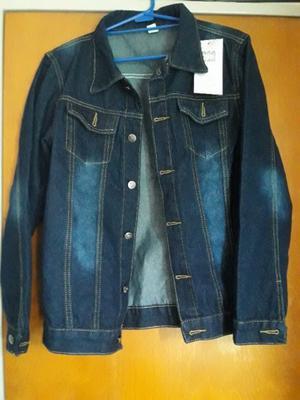 Campera jeans azul