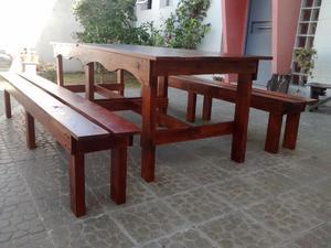 Mesas artesanales de madera recupereada por pedido posot - Mesas de madera para exterior ...