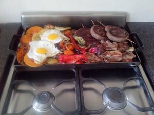 Plancheta Bifera / churrasquera para 2 hornallas