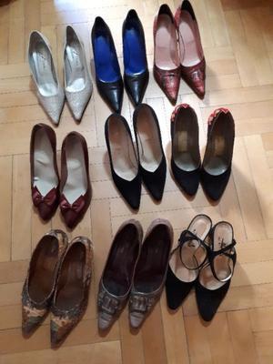 Zapatos con poco uso Nro. 38, precio por el lote completo de