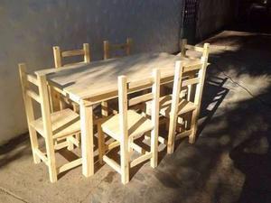COMBO de mesa y sillas 180cmx80cm + 8 SILLAS OFERTA ! !