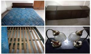 Juego De Dormitorio 2 Plazas Cama Cómoda Mesas De Luz!