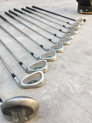 Juego completo de palos de golf Maxfli con bolso y carro