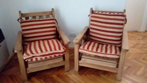 Juego de sillones reclinables semi nuevos, $ cada uno