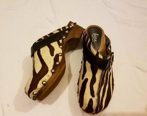 Suecos Zapatos de Cuero