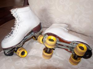 Vendo un par de patines (usados), bota de cuero, número 35