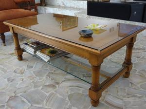mesa ratona buena madera maciza con cristales