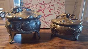 Alhajeros Cofres Joyeros Peltre Y Bronce Estilo Art Noveau